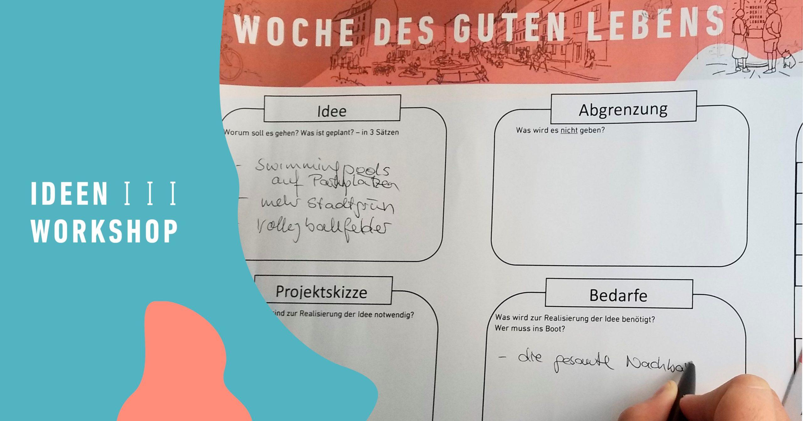 """Ideenworkshop """"Woche des guten Lebens"""""""