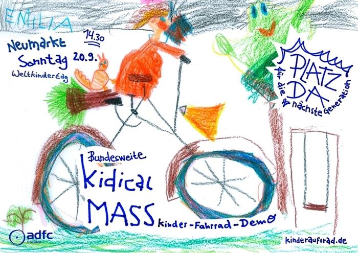 Kinder-Fahrraddemo