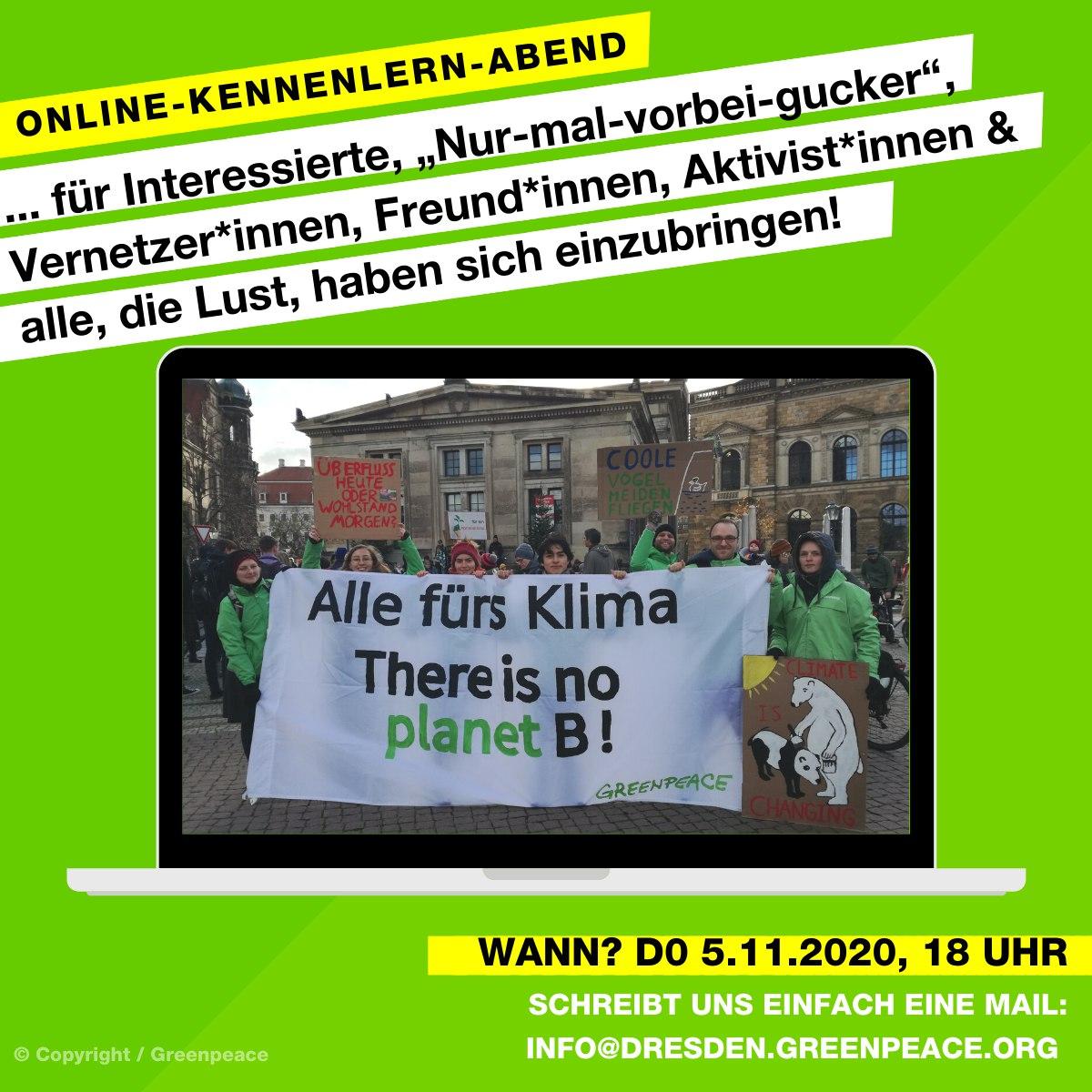 Online: Greenpeace Dresden Neuenabend