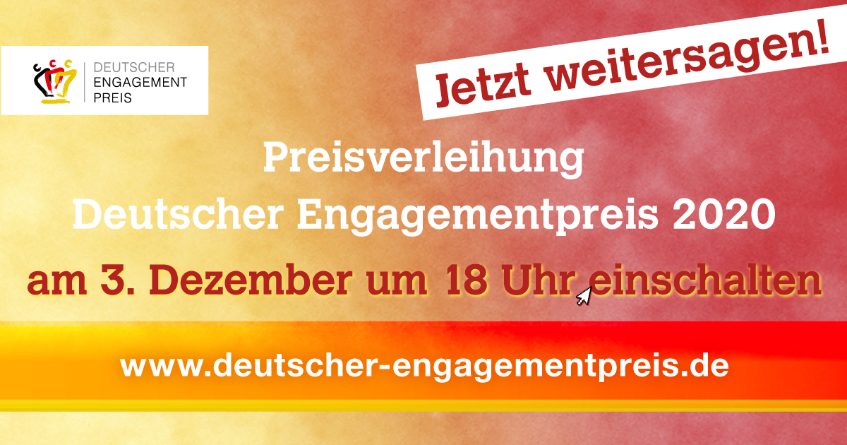 Deutscher Engagementpreis 2020