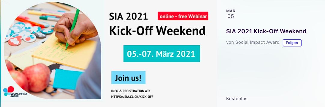Social Impact Award 2021 Kick-Off Weekend