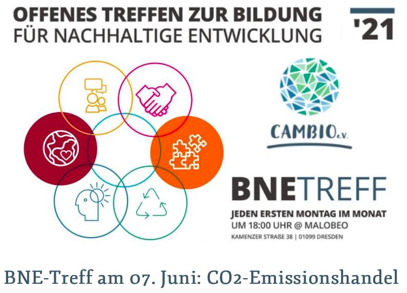 BNE-Treff am 07. Juni: CO2-Emissionshandel