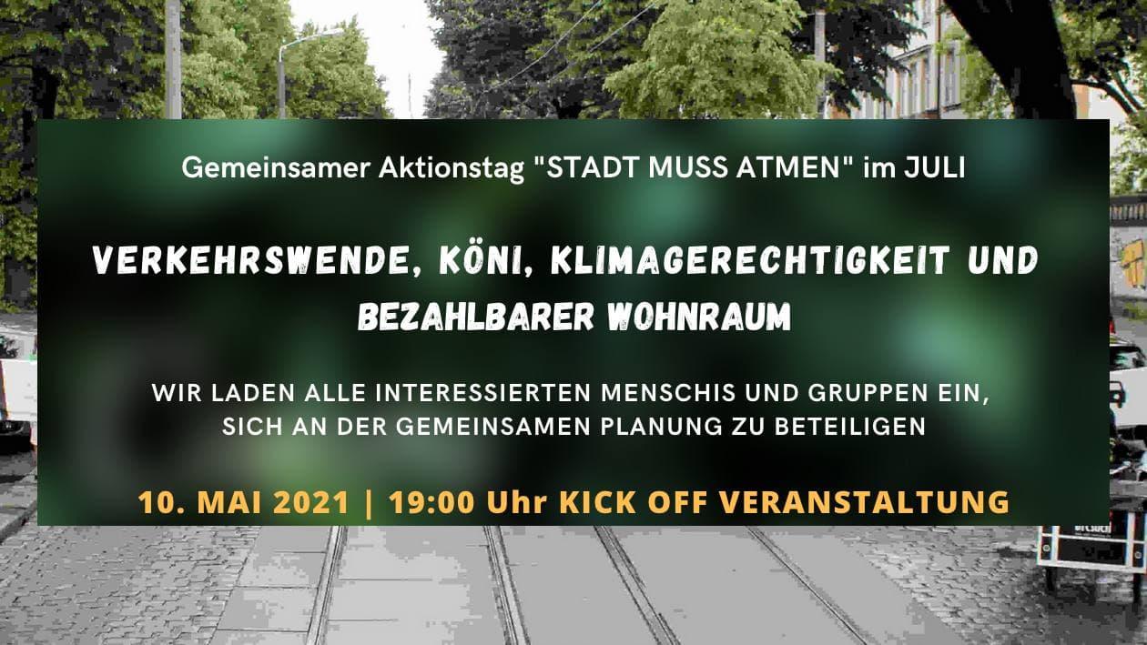 Kick-Off Veranstaltung Verkehrswende, Köni, Klimagerechtigkeit und bezahlbarem Wohnraum in Dresden