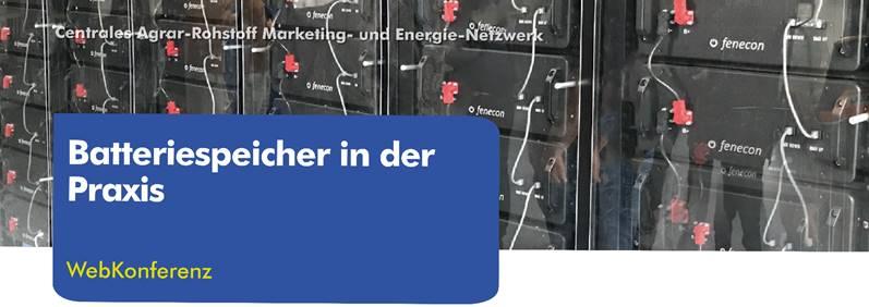 """C.A.R.M.E.N.-WebKonferenz """"Batteriespeicher in der Praxis"""""""