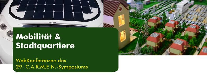 """C.A.R.M.E.N.-WebKonferenzen """"Mobilität effizient gestalten"""" und """"Nachhaltige und zukunftsfähige Stadtquartiere"""""""