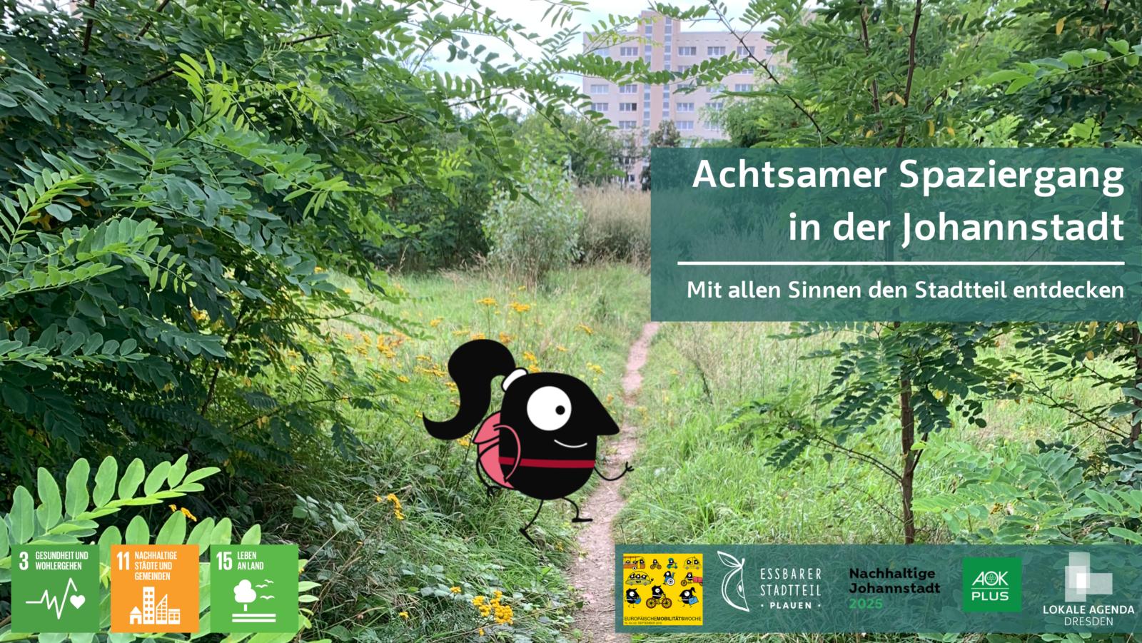 Achtsamer Spaziergang in der Johannstadt