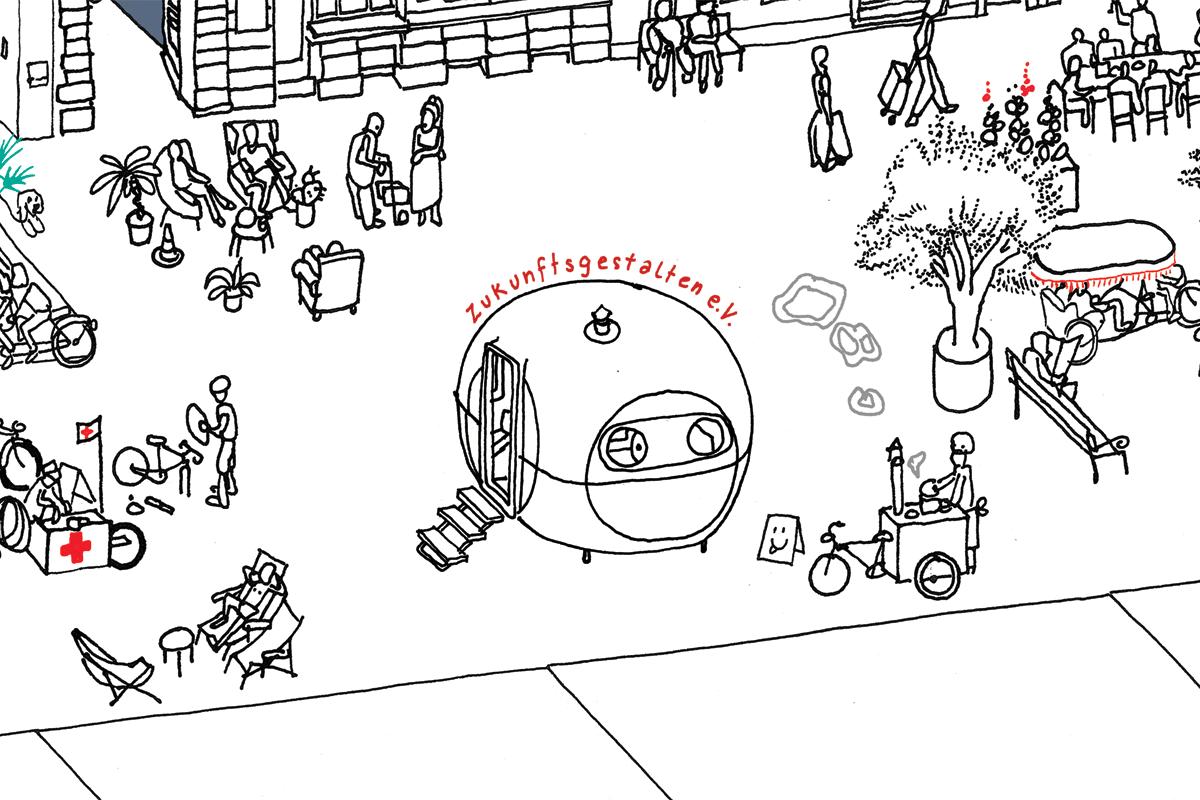 Autofrei! - Offene Zeichen- & Schreibwerkstatt auf der Louisenstraße